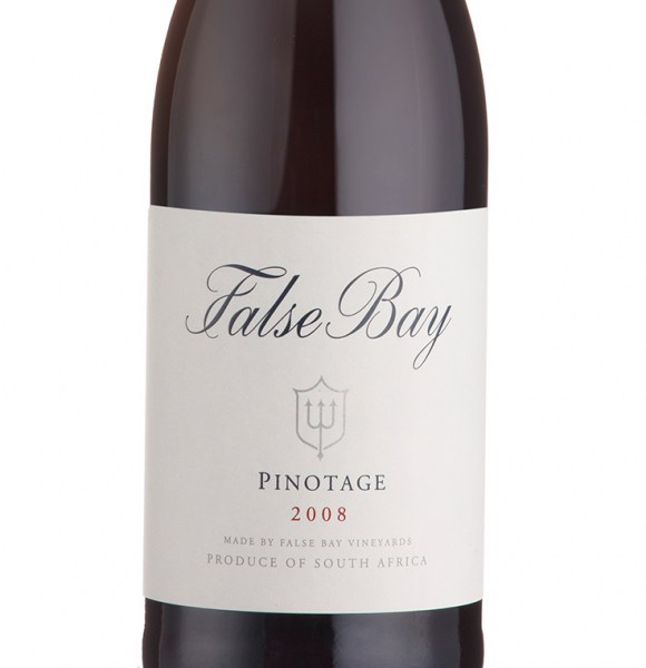false-bay-pinotage-2008-label